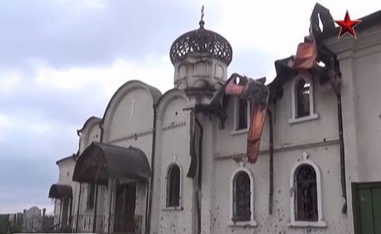 Украинская армия обстреливает Свято-Иверский монастырь в Донецке
