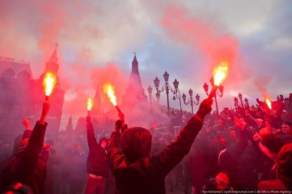 акции протеста на Манежной площади