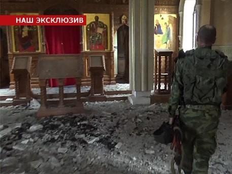 Украинская армия обстреляла Свято-Иверский монастырь в Донецке - Телеканал «Звезда»